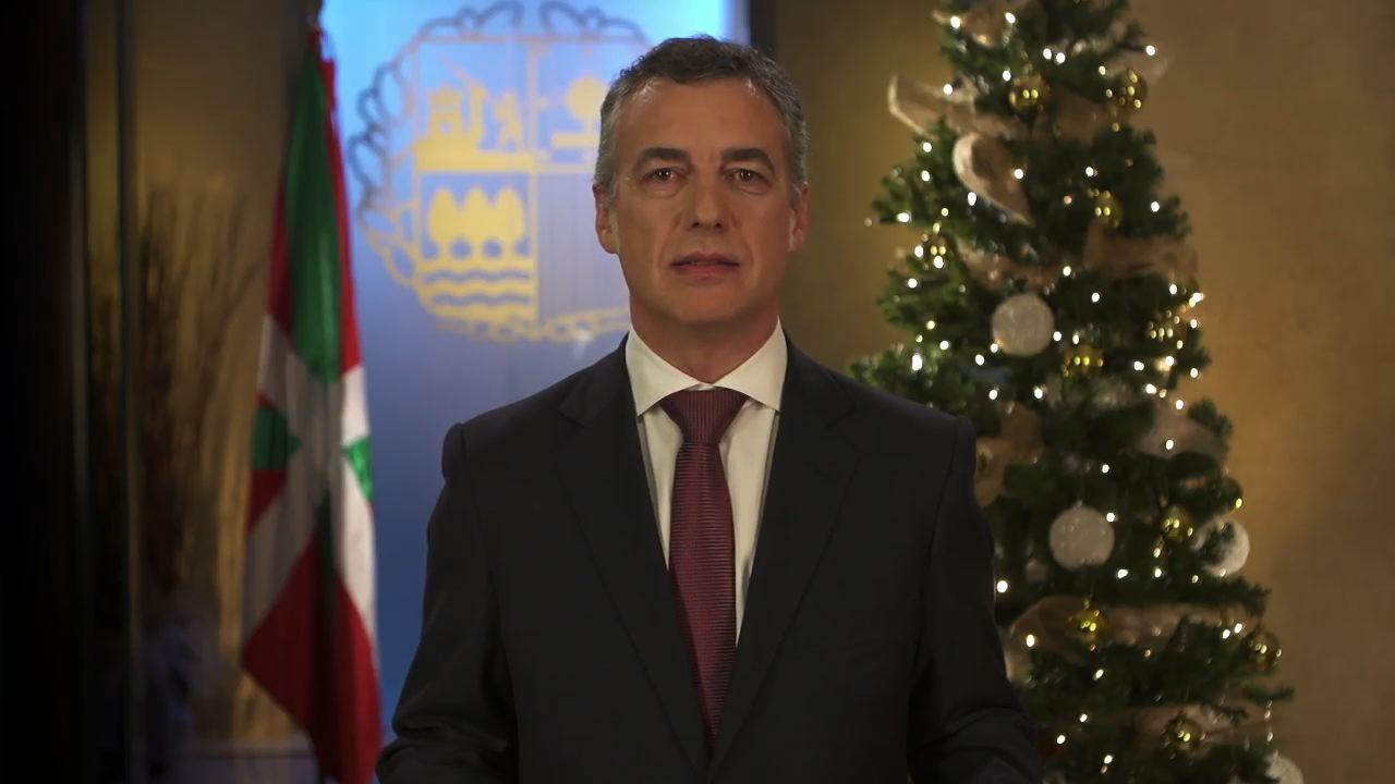 """El lehendakari afirma que el 2014 """"será mejor"""" aunque seguirá siendo """"duro"""" [5:46]"""