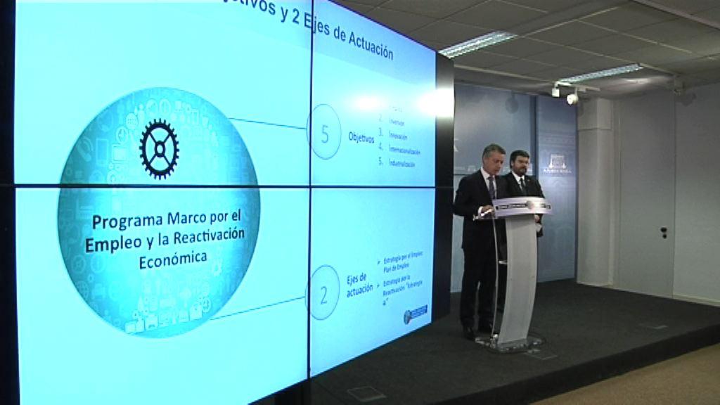 Eusko Jaurlaritzak Enplegu eta Ekonomia Suspertzearen aldeko programa onartu du 32.000 lanpostu berri sortzeko