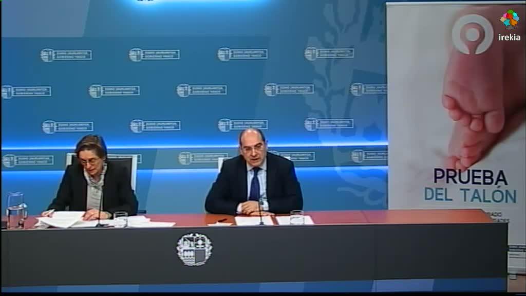 """El Departamento de Salud amplía el alcance del Programa de Cribado Neonatal en Euskadi al incluir cinco nuevas enfermedades congénitas en la """"Prueba del Talón""""   [25:03]"""