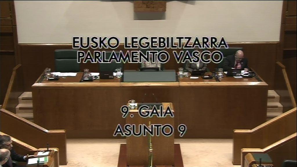 Pregunta, Carmelo Barrio, grupo Popular Vasco, subvención Etxerat [7:47]