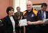 La Consejera de Seguridad ha entregado hoy los primeros carnés del voluntariado en la Academia Vasca de Policía y Emergencias