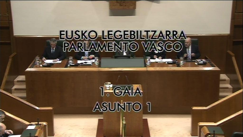 Pregunta Miren Josune Gorospe, grupo Nacionalistas Vascos, modelo vasco desarrollo [7:55]