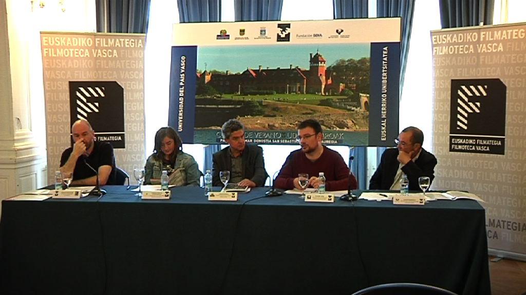 Muñoz participa en la presentación del congreso 'Cine Vasco: tres generaciones de cineastas' [6:15]