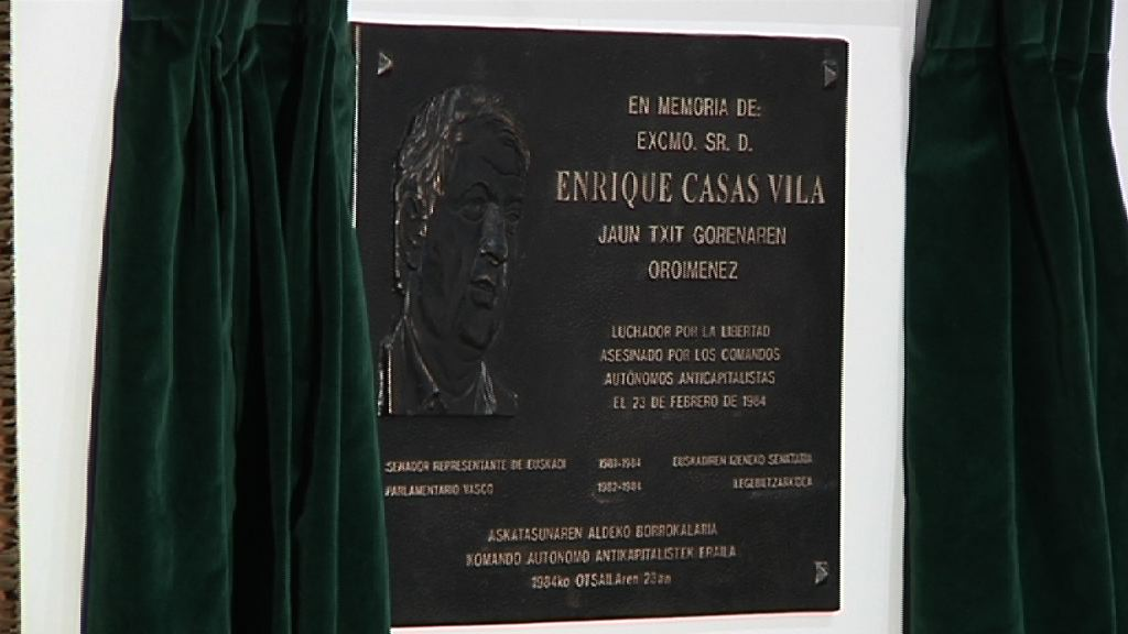 El Lehendakari asiste al homenaje a Enrique Casas [1:17]