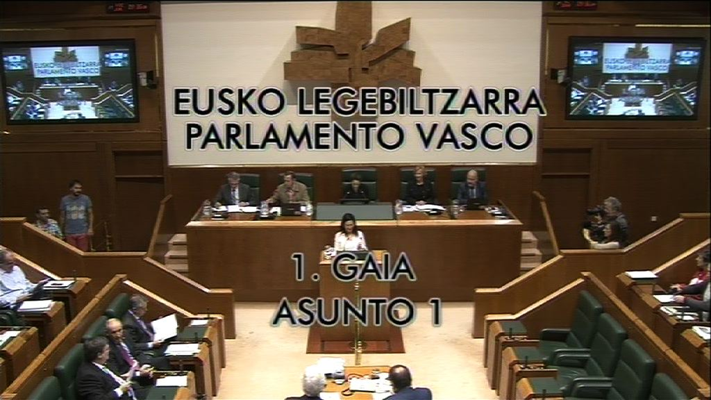 Pregunta, Miren Josune Gorospe, grupo Nacionalistas Vascos, proyecto de presupuestos 2015 [6:54]