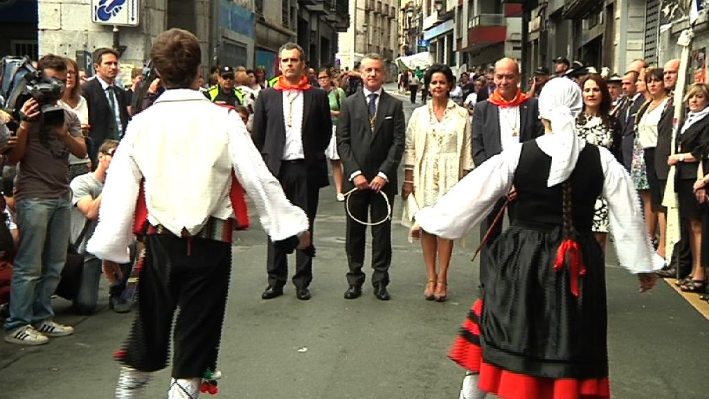 El lehendakari asiste a los actos por la festividad de San Ignacio en Azpeitia [2:13]
