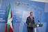 Lehendakariak Eusko Jaurlaritzaren konpromisoa eskaini du, egonkortasuna, gobernagarritasuna eta adostasuna lortzeko Euskadin