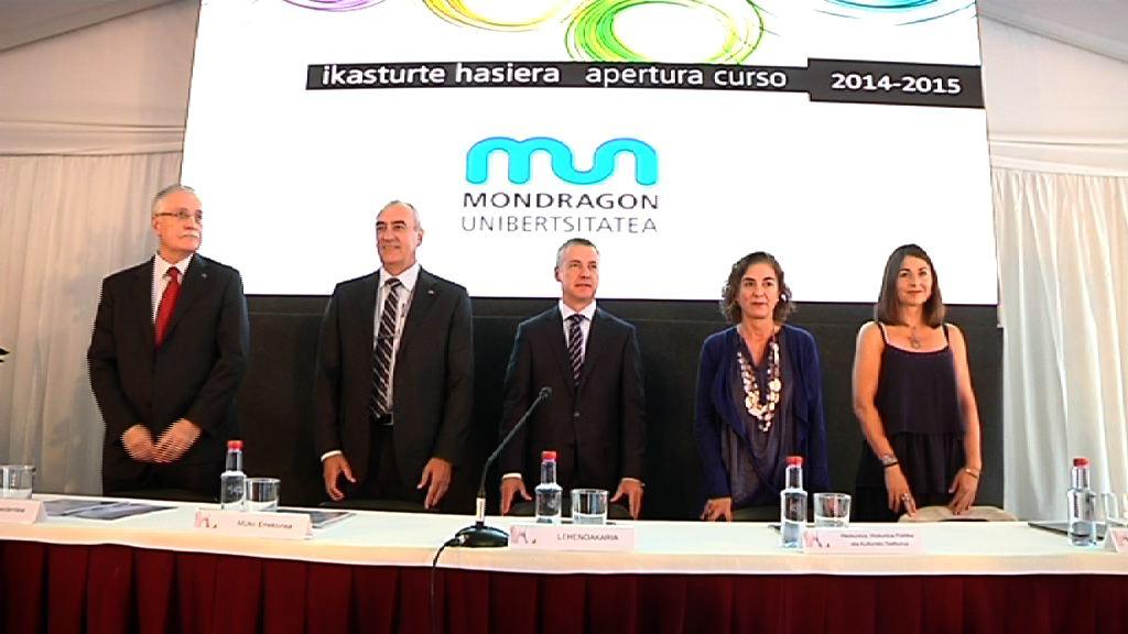 El lehendakari preside el acto de apertura del curso 2014-2015 de la Universidad de Mondragón [11:48]