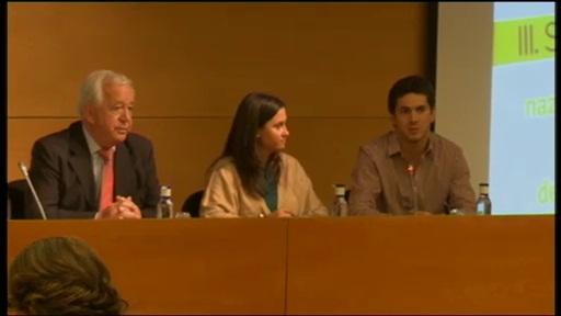 La viceconsejera de educación anuncia el propósito de alcanzar un 20% de profesorado internacional en la Universidad vasca para el año 2020 [100:35]