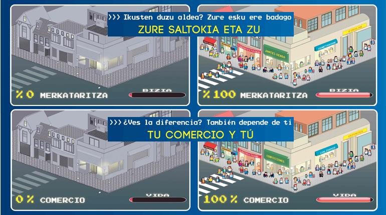 El Gobierno Vasco lanza una campaña publicitaria para provocar la respuesta de los consumidores hacia los valores del comercio local [0:15]