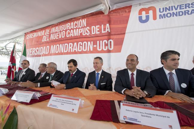 The Lehendakari opens the Mondragón-UCO University in Querétaro