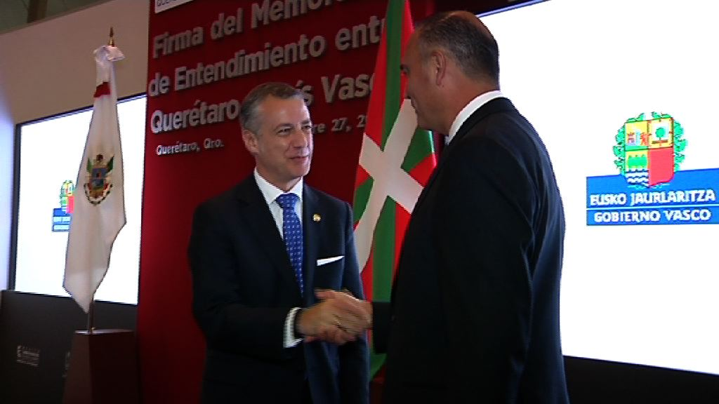 The Basque Government and the State of Querétaro sign a cooperation agreement for tourism, research, cultural, educational and business projects [6:18]