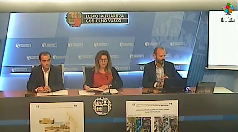 URA y Gobierno Vasco inician la licitación de las obras de defensa ante inundaciones del Río Urumea a su paso por Martutene en Donostia/San Sebastián [28:50]