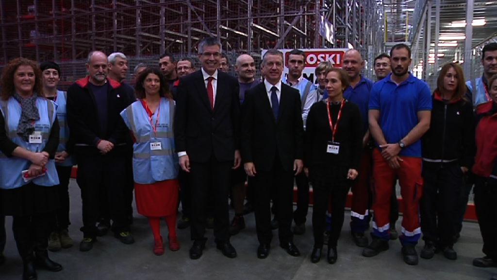 El lehendakari inaugura las instalaciones punteras de Eroski en Elorrio [5:34]
