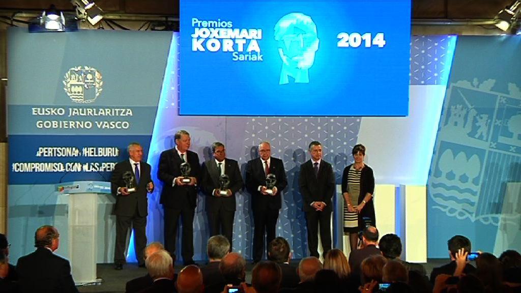 El Lehendakari entrega los Premios Korta 2014 [65:22]