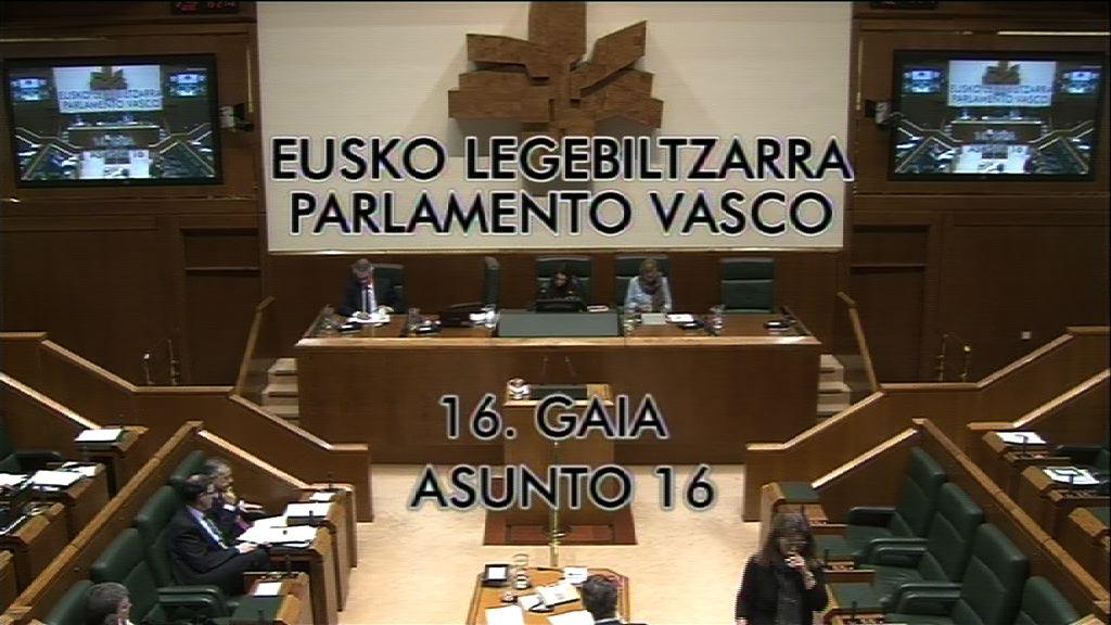 Pregunta, Mikel Unzalu, grupo Socialistas Vascos, previsiones de audiencia de ETB [9:05]