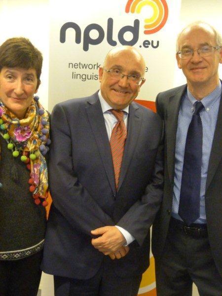 Patxi Baztarrika reivindica en Bruselas el valor económico del euskera en Europa