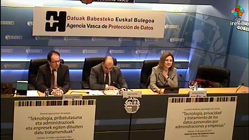 La AVPD cierra los actos del 10º aniversario con un encuentro de Agencias de Protección de Datos de España, Cataluña y País Vasco [55:56]