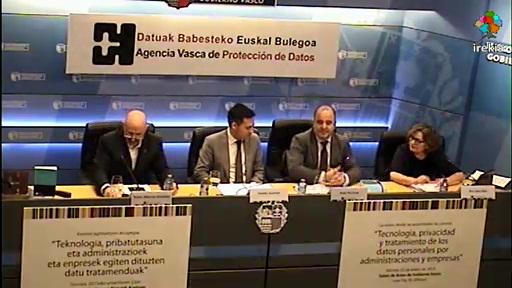 La AVPD cierra los actos del 10º aniversario con un encuentro de Agencias de Protección de Datos de España, Cataluña y País Vasco [50:16]