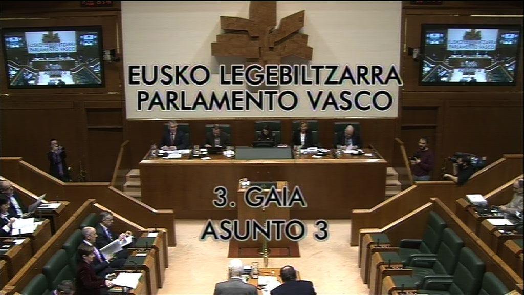 Pregunta, Mikel Unzalu Hermosa, grupo Socialistas Vascos, acuerdos parlamentarios  [9:11]