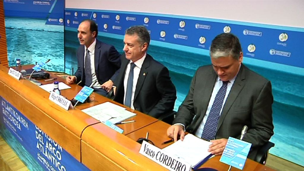 The Lehendakari opens the Atlantic Arc Assembly by calling for cooperation to ensure efficient development of the Atlantic area based on blue growth [51:12]