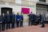 El lehendakari participa en el descubrimiento de la placa del futuro Centro Memorial para las Víctimas del Terrorismo
