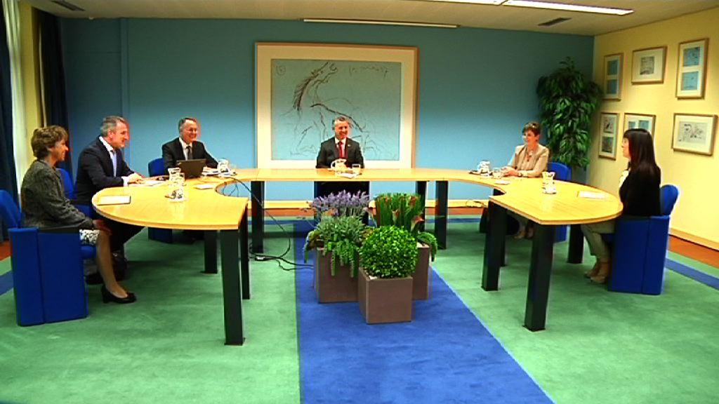 El lehendakari recibe a responsables de Thyssenkrupp Elevadores  [15:58]