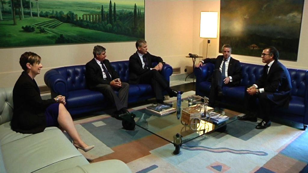 El lehendakari se reúne con representantes de Rolls-Royce e ITP [1:06]