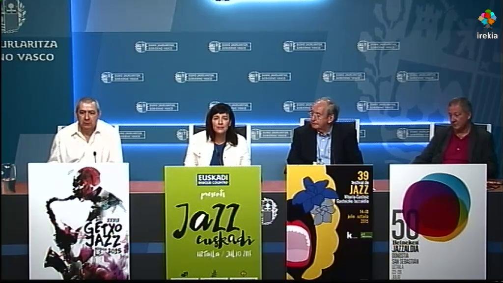 Los festivales de jazz serán este año escenario de la grabación de vídeos para la promoción turística de Euskadi protagonizados por prescriptores culturales [33:54]