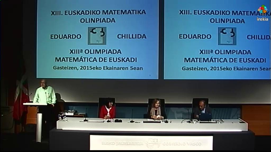 Entrega de Premios de la XIII Olimpiada Matemática Eduardo Chillida [96:23]
