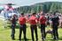 Unidades de la Ertzaintza realizan un simulacro de rescate durante el XXIII Día del Cazador y Pescador