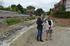 Ana Oregi y el alcalde de Getxo, Imanol Landa, visitan las obras de defensa ante inundaciones en el tramo de Errekagane del río Gobela