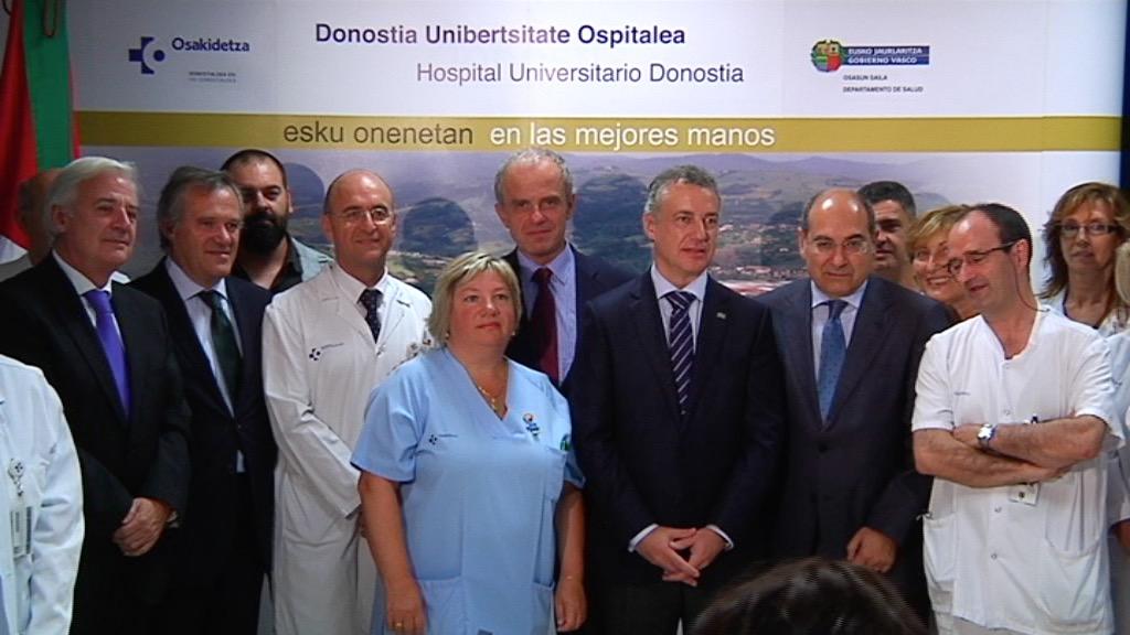 El lehendakari visita el Área de Alta Seguridad Biológica del Hospital Donostia [6:53]