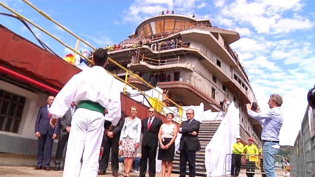 El Gobierno Vasco considera que la botadura del Texelstroom, por parte de La Naval, es un hito para el sector naval de Euskadi [5:50]