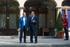 El lehendakari recibe al presidente de Extremadura en Ajuria Enea