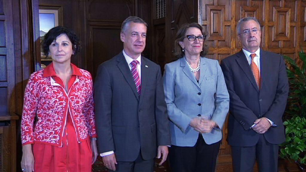Lehendakariak Iberoameriketako idazkari nagusia hartu du, bi instituzioen arteko harremanak indartzeko helburuaz [1:15]
