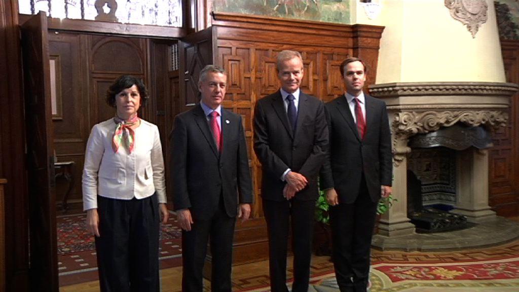 El lehendakari recibe al embajador de Bélgica en Ajuria Enea [1:17]