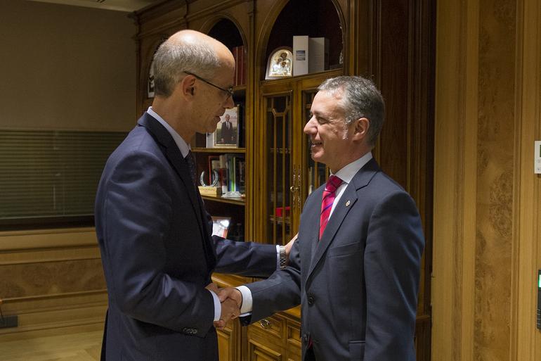 El lehendakari se reúne con el presidente de Andorra, Antoni Marti