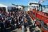 """Ministre Ana Oregi présence de baptême du navire """"Hondarra"""" à Baiona"""