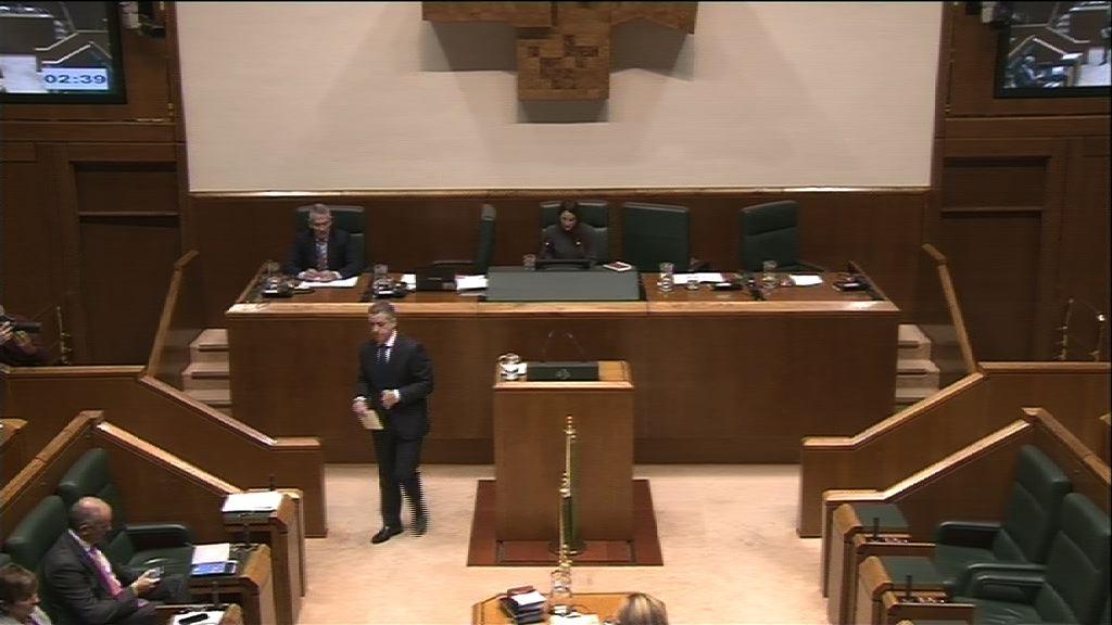 lehendakariari egina, lehendakariaren eta Arabako diputatu nagusiaren artean izandako bilerari buruz