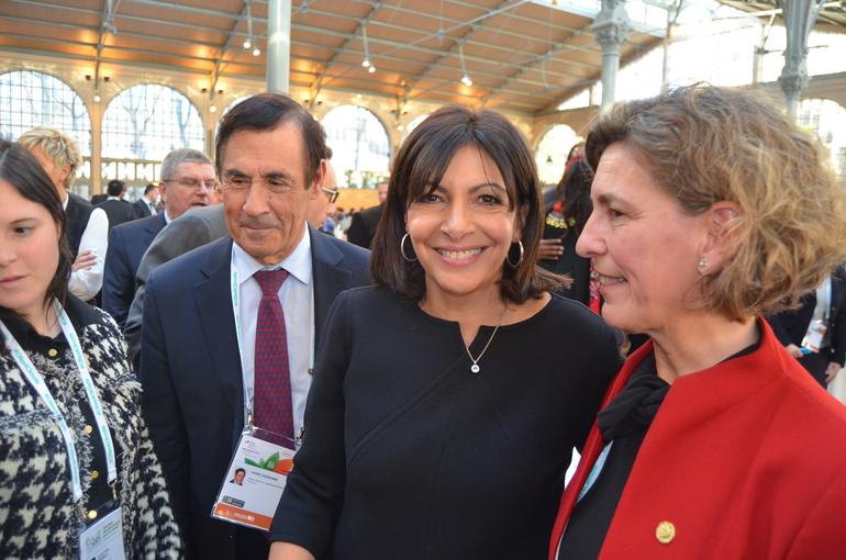 Anne Hidalgo et Ana Oregi