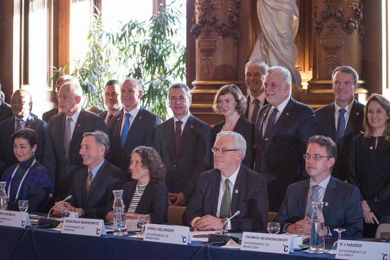 Lehendakariak azaldu ditu Euskadik eta The Climate Group sareak berotegi-efektuko gasak etorkizunean murrizteko hartu dituzten konpromisoak
