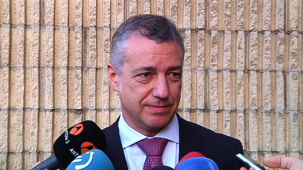 Lehendakariak adierazi du Espainiako Gobernuaren jarduneko presidente Mariano Rajoyren deia «kortesiazkoa izan zela»