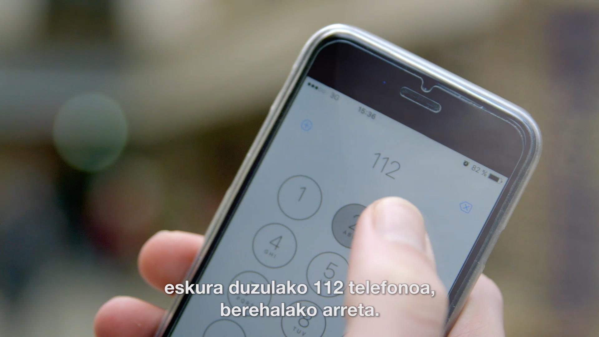 112 telefonoaren 2015eko datuen aurkezpena eta Euskadiko Gurutze Gorriko presidente Iñaki Irusta Bilbaori omenaldia.