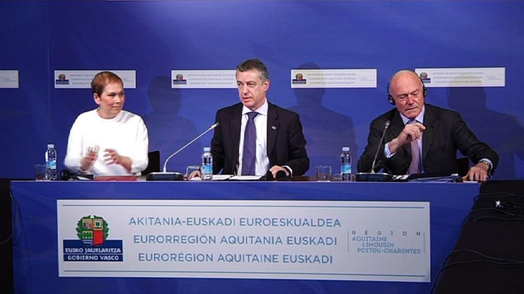 Akitaniak eta Euskadik Nafarroa Euroeskualdean sartzea onartu dute