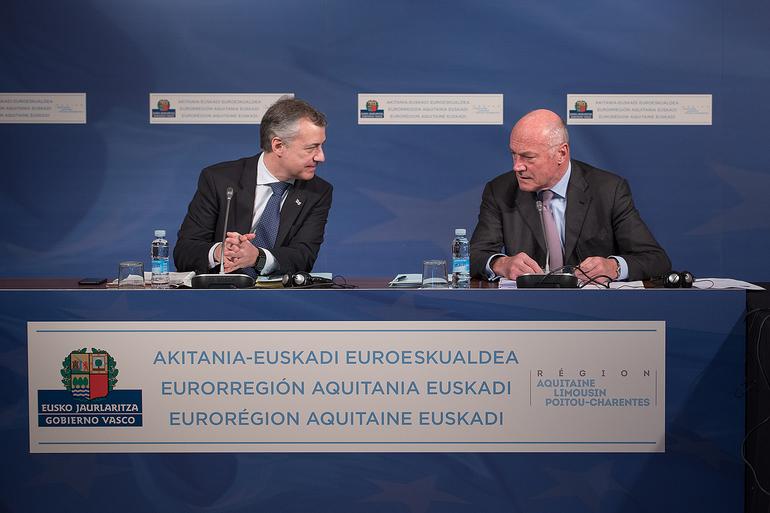 Aquitania y Euskadi aprueban la incorporación de Navarra a la Eurorregión