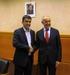 Josu Erkoreka recibe a Hernán Albisu, senador argentino de origen vasco que se encuentra de visita oficial en Euskadi