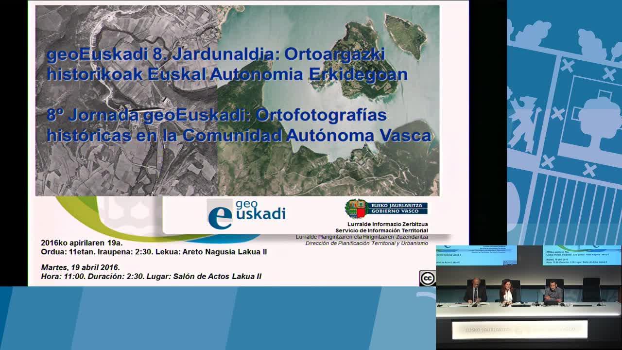 8º taller geoEuskadi. Presentación. Izaskun Iriarte Irureta Viceconsejera de Administración y Planificación Territorial