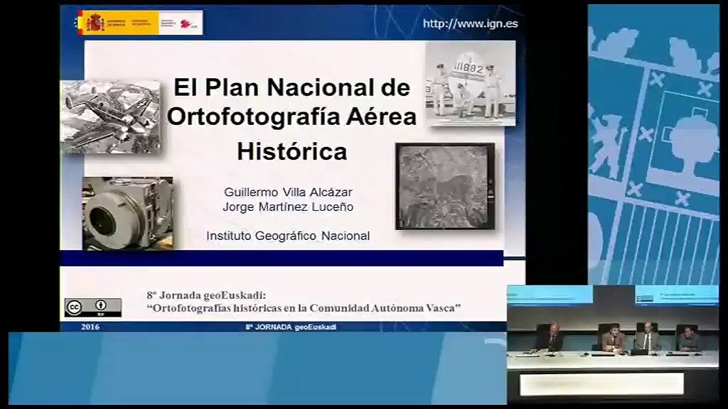8º taller geoEuskadi. Instituto Geográfico Nacional. Guillermo Villa, Jorge Martínez