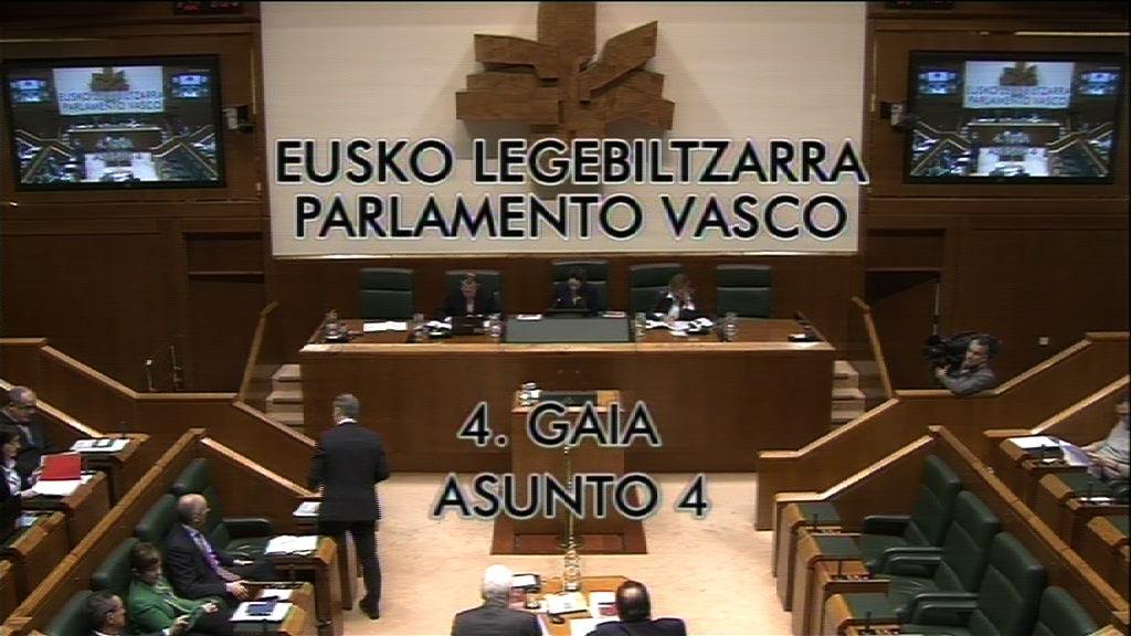 Pregunta formulada por D. Antonio Damborenea Basterrechea, parlamentario del grupo  Popular Vasco, al lehendakari, sobre la supuesta recentralización autonómica.